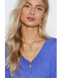 Nasty Gal - Play To Your Charms Layered Necklace - Lyst