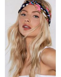 Nasty Gal - Knot A Moment To Spare Patterned Headband - Lyst