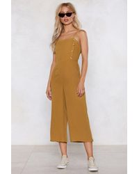 Nasty Gal - Button It Be Nice Jumpsuit - Lyst