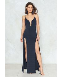 Nasty Gal - Split The Difference Maxi Dress - Lyst