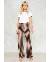 Nasty Gal - Flare To The Throne Striped Pants - Lyst