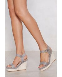 Nasty Gal - The Wedge Of Glory Espadrille Wedge - Lyst