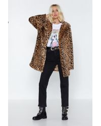 Nasty Gal - Born To Be Wild Leopard Faux Fur Coat - Lyst