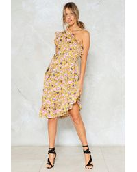 Nasty Gal - Grow Off On One Floral Dress - Lyst