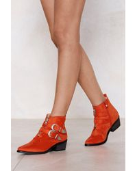 Nasty Gal - Put Your West Foot Forward Buckle Boot - Lyst