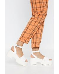 Nasty Gal - Cleated Flatform Sandals - Lyst