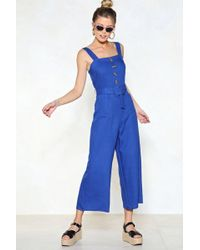 Nasty Gal - Let's Keep This Casual Jumpsuit - Lyst