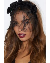 Nasty Gal - Lace It Head-on Floral Crown - Lyst