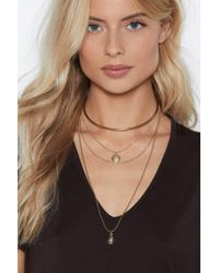 Nasty Gal - Off The Chain Layered Necklace - Lyst