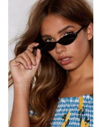 Nasty Gal - Who Do You Think You're Kitten Cat-eye Shades - Lyst
