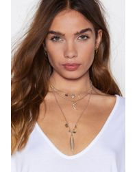 Nasty Gal - Champagne Supernova Moon Necklace - Lyst