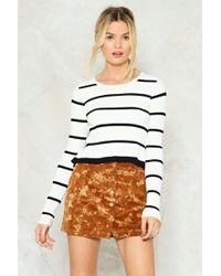 Nasty Gal | Send Me A Line Striped Sweater | Lyst