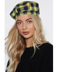 Nasty Gal - Stay On Top Plaid Beret - Lyst