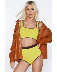 Nasty Gal - Knit Was Always You Crop Top And Panty Set - Lyst