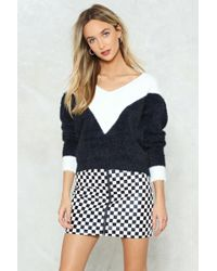 Nasty Gal - You Did Knit Colorblock Jumper - Lyst