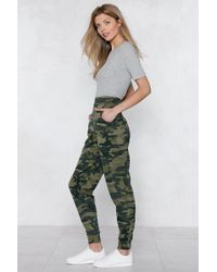"""Nasty Gal - """"march On Camo Joggers"""" - Lyst"""