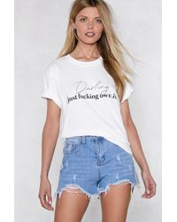 Nasty Gal - Darling Just Fucking Own It Tee - Lyst