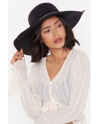 "Nasty Gal - ""straw A Line Wide Straw Hat"" - Lyst"