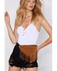 Nasty Gal - Want You Should Swing By Sometime Fringe Fanny Pack - Lyst