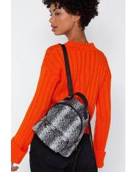Nasty Gal - Want We Choose Zoo Snake Backpack - Lyst
