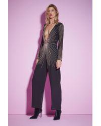 Nasty Gal - Studio Best Dressed Beaded Jumpsuit - Lyst