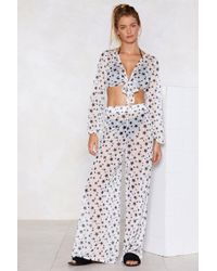 Nasty Gal - Don't Get Me Star-ted Cover-up Trousers - Lyst