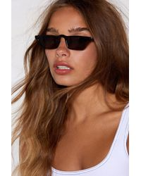 Nasty Gal - Back To Reality Faux Tortoiseshell Shades - Lyst