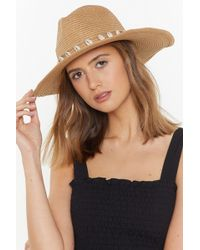 51afd6463f197 Nasty Gal - To Shell With That Straw Fedora - Lyst