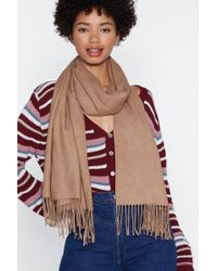 """Nasty Gal - """"fringe In High Places Wool Scarf"""" - Lyst"""