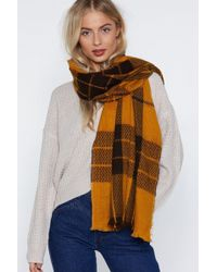 Nasty Gal - Check Out Time Plaid Scarf - Lyst