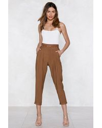Nasty Gal | In The Bag Tapered Trousers | Lyst