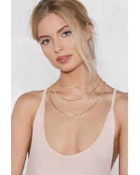 Nasty Gal - Into Office Layered Necklace - Lyst