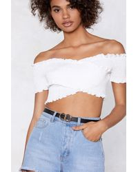 Nasty Gal - We've Got A Connection Faux Leather Belt - Lyst