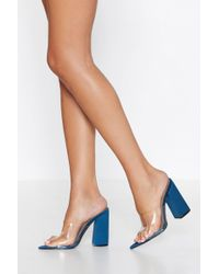 Nasty Gal - Clear The Way Pointed Heel - Lyst
