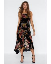 Nasty Gal - You Can't Grow Wrong Devore Dress - Lyst