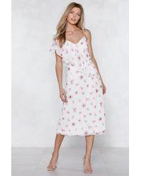 Nasty Gal - Don't Grow Away Floral Dress - Lyst