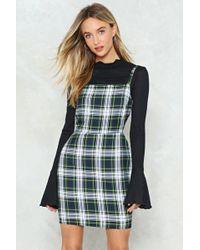 Nasty Gal - Check Strappy Dress Check Strappy Dress - Lyst