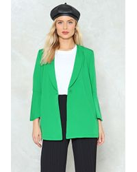 Nasty Gal - Own It Relaxed Blazer Own It Relaxed Blazer - Lyst
