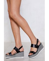 Nasty Gal - Need A Lift Wedge Sandal - Lyst
