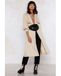 Nasty Gal - Sleeve 'em Wanting More Trench Coat - Lyst