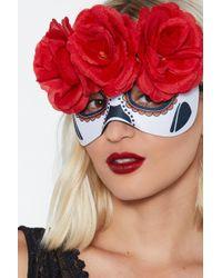 Nasty Gal - Los Dias Muertos Floral Face Mask - Lyst