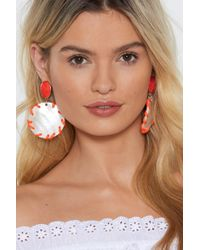 Nasty Gal - Good To Be Ear Disc Drop Earrings - Lyst