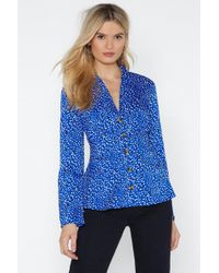 Nasty Gal - Button-down To Funky Town Polka Dot Blouse - Lyst