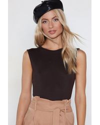 Nasty Gal - Cover Your Basics Tee Bodysuit - Lyst