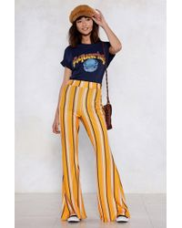 Nasty Gal - Partner In Line Striped Trousers - Lyst