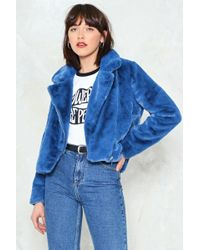 Nasty Gal - As Fur Usual Faux Fur Cropped Jacket - Lyst