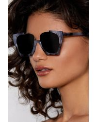 Nasty Gal - Stand Up Oversized Shades - Lyst