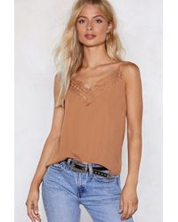 Nasty Gal - Say It To My Lace Cami Top - Lyst
