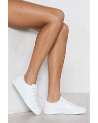 Nasty Gal - Shine Of The Times Glitter Trainer - Lyst