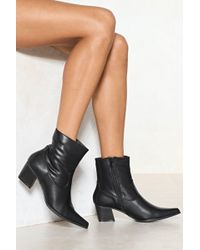 Nasty Gal | Do You Get My Point Vegan Leather Boot | Lyst